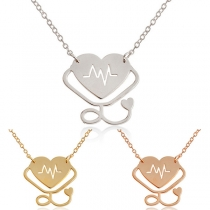 Creative Style Stethoscope Pendant Necklace