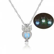 Fashion Luminous Owl Pendant Necklace
