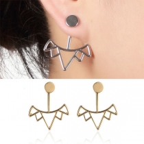 Chic Style Hollow Out Trinagle Shaped Stud Earrings