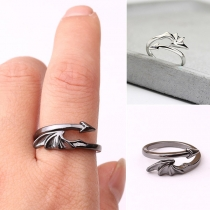 Simple Style Wing Shaped Open Ring
