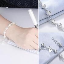 Fashion Silver-tone Hollow Out Ball Bracelet