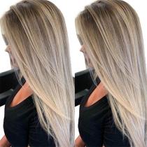 Hot Sale Color Gradient Long Straight Wigs