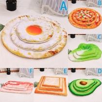 Cute Food Shaped Plush Mattress for Pets