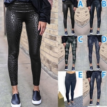 Fashion High Waist Slim Fit Printed Leggings