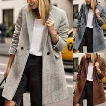 OL Style Long Sleeve Notched Lapel Slim Fit Blazer