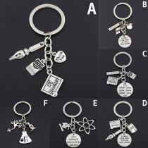 Fashion Silver-tone Teacher's Day Gifts Key Chain