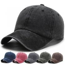 Retro Style Solid Color Baseball Cap