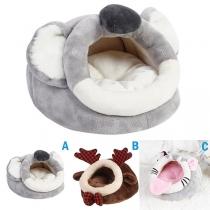 Cute Style Animal Shaped Plush Sleeping Bag for Pets