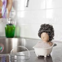 Creative Style Bathtub Shaped Soap Opera Dish Scrubber Holder