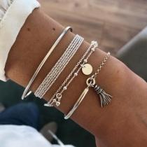 Chic Style TRassel Pendantr Bracelet Set 4 pcs/Set