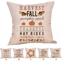 Fashion Maple Leaf & Pumpkin Printed Pattern Pillow Case 2 Piece/Set