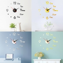 Creative Style 3D Number DIY Wall Clock