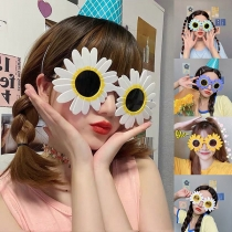 Playful Style Sunflower-shape Birthday Party Sunglasses  2 Pair/Set