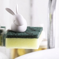 Cute Style Rabbit Shaped Kitchen Sponge Rack Holder