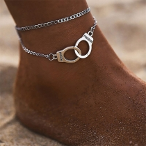 Chic Style Handcuffs Shaped Dual-layer Anklet
