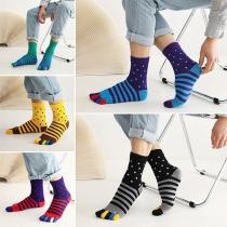 Fashion Contrast Color Stripe Separate-toe Socks  2 Pair/Set
