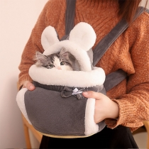 Cute Style Contrast Color Plush Backpack for Cats