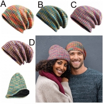 Fashion Mixed Color Couple Knit Beanies