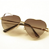 Gradient Color Love Heart Frame Fashion Sunglasses Shades