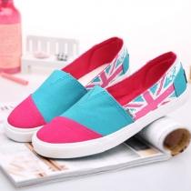 British Flag Contrast Color Flat Slip On Loafer