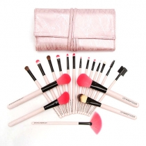 Gorgeous Professional Cosmetic Makeup Brushes 18pcs Set Knit with Case