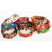 Bohemian Style Colorful Hand-beaded Bracelet