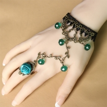 Retro Lace Hand-beaded Ring Bracelet