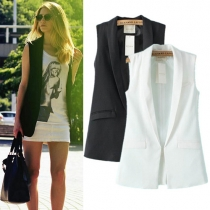 Fashion Solid Color Sleeveless Vest