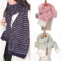 Fresh Style Knitted Couple Scarf