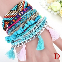 Bohemian Style Hand-braided Beaded Multilayer Bracelet