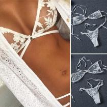 Sexy See-through Lace Bikini Set