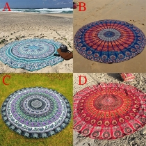 Exquisite Totem Printed Round Beach Towels