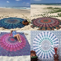 Exquisite Totem Printed Round and Rectangle Beach Towels