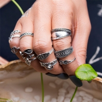 Retro Style Alloy Ring Set 12 pcs/Set