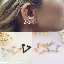 Simple Style Pentagram/Triangle-shaped Alloy Stud Earrings