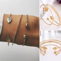 Fashion Gold-tone Alloy Bracelet 3 pcs/Set