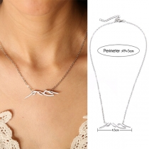 Fashion Silver-tone Stainless Steel Pendant Necklace