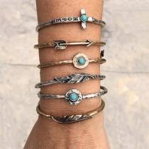 Retro Style Gold/Silver Tone Alloy Bracelet