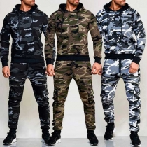 Fashion Long Sleeve Hoodie + Pants Men's Sports Suit