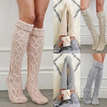 Fashion Solid Color Over-the-knee Socks