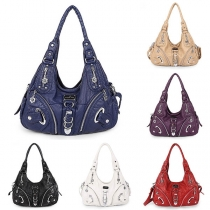Fashion Solid Color Handbag Shoulder Messenger Bag