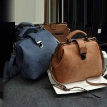 Retro Solid Color Multi-function Canvas Shoulder Handbag Bag
