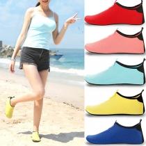 Fashion Contrast Color Flat Heel Couple Diving Shoes