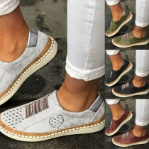 Fashion Flat Heel Round Toe Casual Canvas Shoes