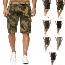 Fashion Side-pocket Man's Knee-length Shorts
