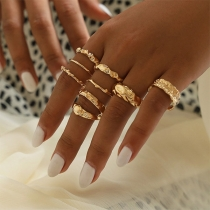 Fashion Gold-tone Alloy Ring Set 9 pcs/Set