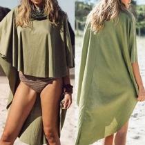 Fashion Irregular Overlong Sun Protection Windbreaker