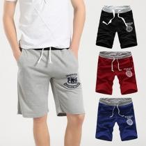 Fashion Printed Men's Fifth-pants Casual Shorts