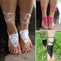 Fashion Solid Color Hand-knitted Ankle Chain