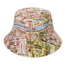 Fashion Printed Outdoor Sunscreen Fisherman Hat